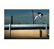 John Methvin - Heelflip - Photo Sam McGuire Art Print
