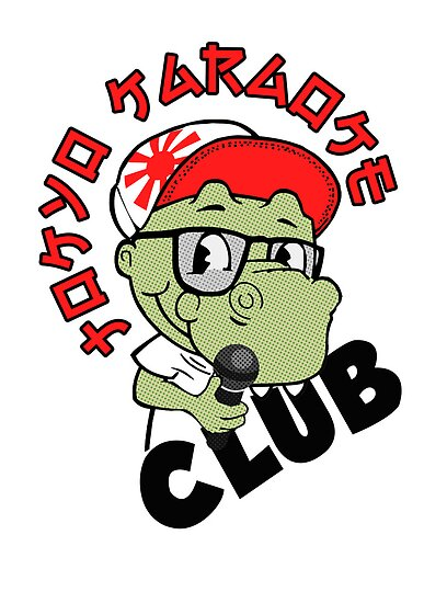 Tokyo Karaoke Club T-Rex Tee Rex  by Creative Spectator