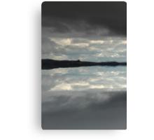 Hidden island in the clouds Canvas Print