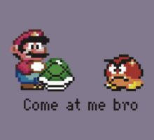 Come at me Bro (Mario) Kids Clothes