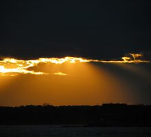 Sunday Sunset in October by MaryinMaine