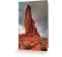 Red tower Greeting Card