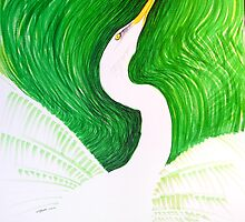 Great White Egret  by Judah  Fansler