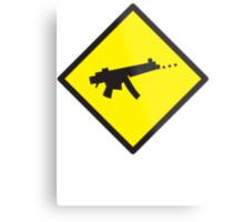 Beware Digital GAMER crossing design Metal Print