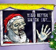 Zombie Santa by Phillip Blackman