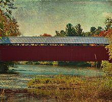 Canadian Covered Bridge by Deborah  Benoit