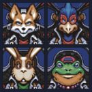 Fox, Peppy, Falco &amp; Slippy by Quillix