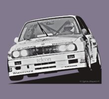 BMW E30 M3 - DTM Racing (Black & White Lines) by Sharknose