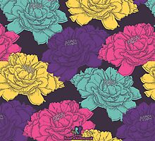 Floaty Floral Surface Pattern by RosieParkinson