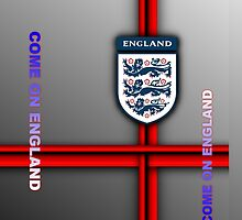 Come on England - football/soccer (zoom to see sides) by ALIANATOR