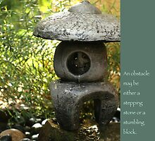 Zen Garden with Quote by Heidi Hermes
