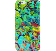 A LITTLE OF THIS - Bright Colorful Abstract Ocean Painting Circle Whimsical Magenta Lime Fun Gift iPhone Case/Skin