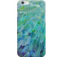 SEA SCALES - Beautiful BC Ocean Theme Peacock Feathers Mermaid Fins Waves Blue Teal Abstract iPhone Case/Skin