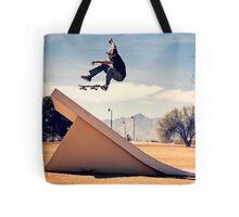Ray Barbee - 360 Flip - Arizona - Photo Aaron Smith Tote Bag