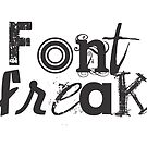 font freak card by Vana Shipton