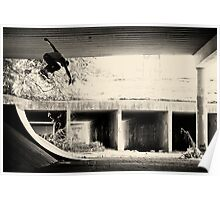 Jason Dill backside ollie by Sam Muller Poster
