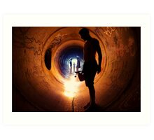 Burning Tunnel by Sam Muller Art Print