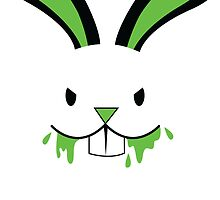Rabid Rabbit Zombie with Green BLOOD! by jazzydevil