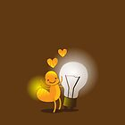 A cute little idea! Glow worm with light bulb by jazzydevil
