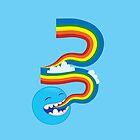 I SPEAK rainbows! cute kawaii character sending out a rainbow by jazzydevil