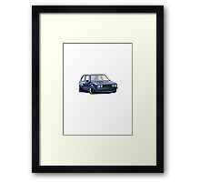 Volkswagen Mk1 Golf Rabbit Blue Framed Print