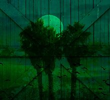 Spooky Green Moon by Robert Ball