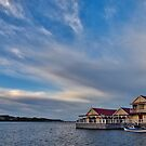 Clouds Over the Boathouse by John Sharp