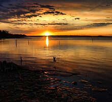 Sunset From Eufaula by Carolyn  Fletcher
