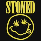 Stoned - yellow on black by fagbitch