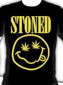 Stoned - yellow on black T-Shirt