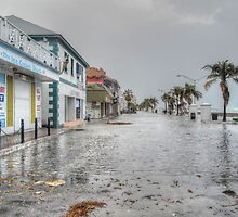 The day after Hurricane Sandy on Governor Woodes Rogers Walk in Downtown Nassau, The Bahamas by 242Digital