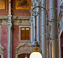 Portugal. Porto. Palácio da Bolsa. Fragment of Interior. by vadim19