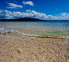 Seashore waves, Vanuatu, South Pacific Ocean by Sharpeyeimages
