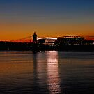 Sunset on Paul Brown Stadium by mcstory