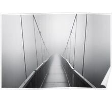 Grandfather Mountain Heavy Fog - Bridge to Nowhere Poster