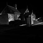 Bulli Railway Station at night BW Shot by Russell  Burgess