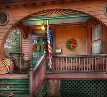 House - Porch - Metuchen, NJ - That yule tide spirit by Mike  Savad