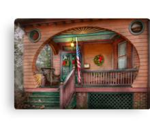 House - Porch - Metuchen, NJ - That yule tide spirit Canvas Print