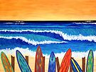 SURFS UP ~ bring the beach into your your home by Lisa Frances Judd ~ QuirkyHappyArt