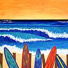 SURFS UP ~ bring the beach into your your home by Lisa Frances Judd ~ Original Australian Art