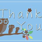 Owl Thank You Cards by Heather Applegate