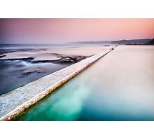 Swimmer of Merewether Pool Photographic Print