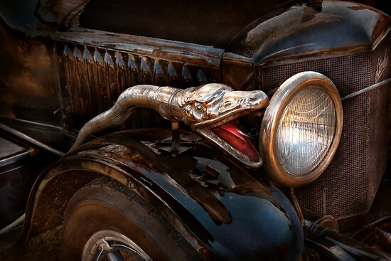 Car - Steamer - Snake Charmer  by Mike  Savad