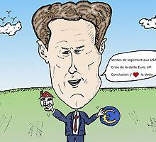 Secrétaire au Trésor américain Timothy GEITHNER caricature politique by Binary-Options
