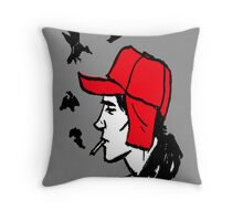 Red Hunting Cap Throw Pillow