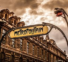 Metro of Paris near The Louvre by glymps