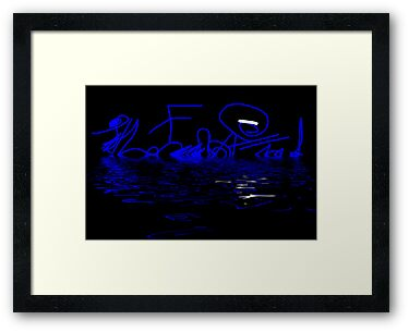 Reflections in Blue - Abstract by Natalie Kinnear