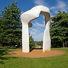 Henry Moore Sculpture in RHS Wisley by Keith Larby
