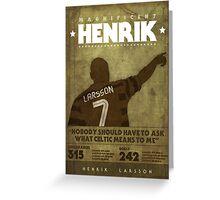 Henrik Larsson  Greeting Card