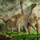 Iguanodon bernissarensis by A V S TURNER